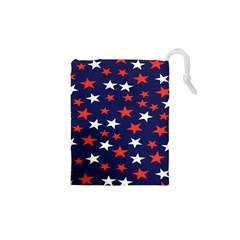 Star Red White Blue Sky Space Drawstring Pouches (xs)