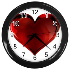 Heart Gradient Abstract Wall Clocks (black) by Amaryn4rt