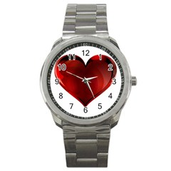 Heart Gradient Abstract Sport Metal Watch by Amaryn4rt