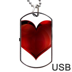 Heart Gradient Abstract Dog Tag Usb Flash (one Side) by Amaryn4rt