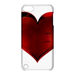 Heart Gradient Abstract Apple Ipod Touch 5 Hardshell Case With Stand by Amaryn4rt