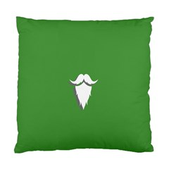 The Dude Beard White Green Standard Cushion Case (one Side)