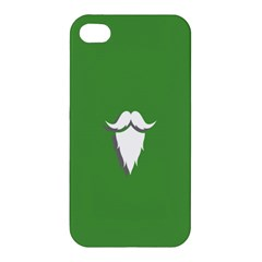 The Dude Beard White Green Apple Iphone 4/4s Premium Hardshell Case