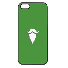 The Dude Beard White Green Apple Iphone 5 Seamless Case (black)