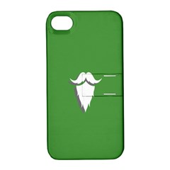 The Dude Beard White Green Apple Iphone 4/4s Hardshell Case With Stand