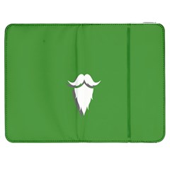 The Dude Beard White Green Samsung Galaxy Tab 7  P1000 Flip Case