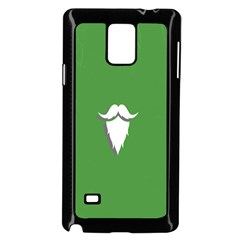 The Dude Beard White Green Samsung Galaxy Note 4 Case (black)