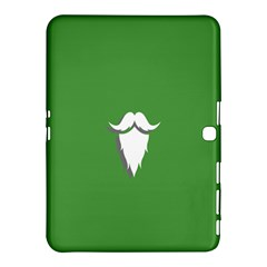 The Dude Beard White Green Samsung Galaxy Tab 4 (10 1 ) Hardshell Case