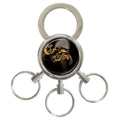 Fractal Mathematics Abstract 3 Ring Key Chains