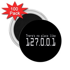 There s No Place Like Number Sign 2 25  Magnets (100 Pack)