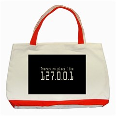 There s No Place Like Number Sign Classic Tote Bag (red) by Alisyart