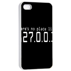 There s No Place Like Number Sign Apple Iphone 4/4s Seamless Case (white) by Alisyart