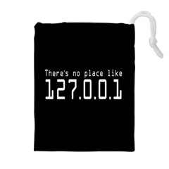 There s No Place Like Number Sign Drawstring Pouches (extra Large)