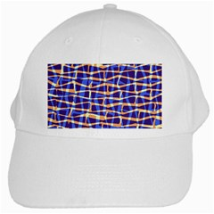 Surface Pattern Net Chevron Brown Blue Plaid White Cap by Alisyart