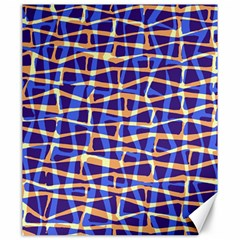 Surface Pattern Net Chevron Brown Blue Plaid Canvas 20  X 24   by Alisyart