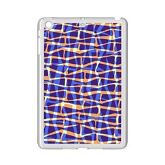 Surface Pattern Net Chevron Brown Blue Plaid Ipad Mini 2 Enamel Coated Cases