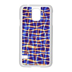 Surface Pattern Net Chevron Brown Blue Plaid Samsung Galaxy S5 Case (white)