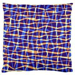 Surface Pattern Net Chevron Brown Blue Plaid Large Flano Cushion Case (one Side) by Alisyart