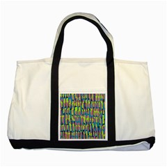 Surface Pattern Green Two Tone Tote Bag