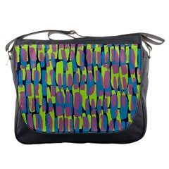 Surface Pattern Green Messenger Bags by Alisyart