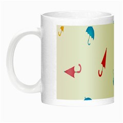 Umbrella Green Orange Red Blue Pink Water Rain Night Luminous Mugs