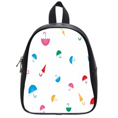 Umbrella Green Orange Red Blue Pink Water Rain School Bags (small)