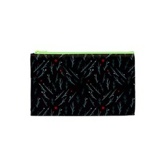 Tree Twigs Spot Blue Grey Cosmetic Bag (xs)