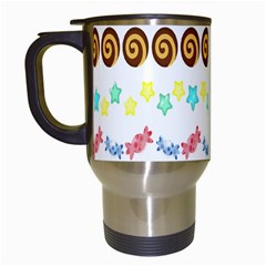 Sunflower Plaid Candy Star Cocolate Love Heart Travel Mugs (white) by Alisyart