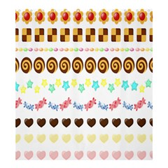 Sunflower Plaid Candy Star Cocolate Love Heart Shower Curtain 66  X 72  (large)