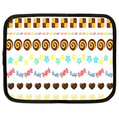 Sunflower Plaid Candy Star Cocolate Love Heart Netbook Case (xl)