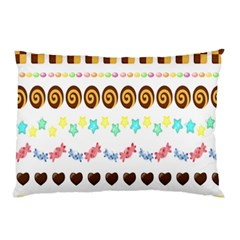 Sunflower Plaid Candy Star Cocolate Love Heart Pillow Case (two Sides) by Alisyart