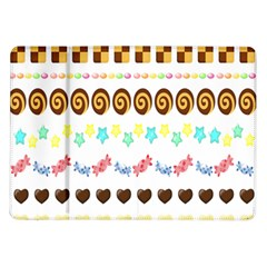 Sunflower Plaid Candy Star Cocolate Love Heart Samsung Galaxy Tab 10 1  P7500 Flip Case