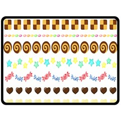 Sunflower Plaid Candy Star Cocolate Love Heart Double Sided Fleece Blanket (large)