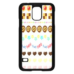 Sunflower Plaid Candy Star Cocolate Love Heart Samsung Galaxy S5 Case (black) by Alisyart