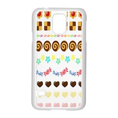 Sunflower Plaid Candy Star Cocolate Love Heart Samsung Galaxy S5 Case (white)