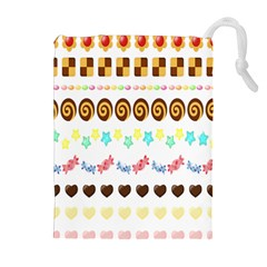 Sunflower Plaid Candy Star Cocolate Love Heart Drawstring Pouches (extra Large)