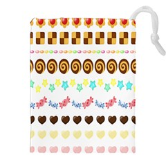 Sunflower Plaid Candy Star Cocolate Love Heart Drawstring Pouches (xxl) by Alisyart