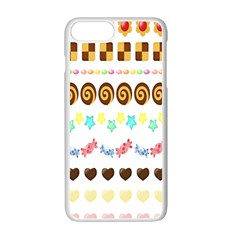 Sunflower Plaid Candy Star Cocolate Love Heart Apple Iphone 7 Plus White Seamless Case