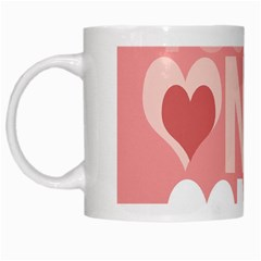 Valentines Day One Only Pink Heart White Mugs by Alisyart