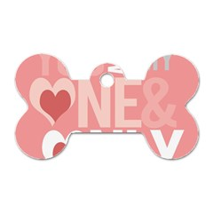 Valentines Day One Only Pink Heart Dog Tag Bone (one Side) by Alisyart