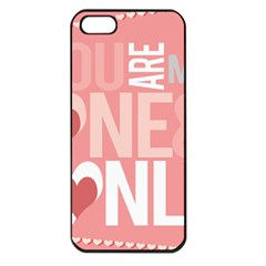 Valentines Day One Only Pink Heart Apple Iphone 5 Seamless Case (black)
