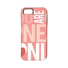 Valentines Day One Only Pink Heart Apple Iphone 5 Classic Hardshell Case (pc+silicone)