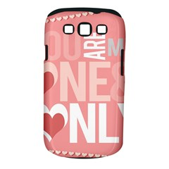 Valentines Day One Only Pink Heart Samsung Galaxy S Iii Classic Hardshell Case (pc+silicone)