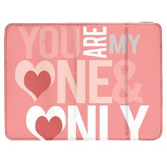 Valentines Day One Only Pink Heart Samsung Galaxy Tab 7  P1000 Flip Case