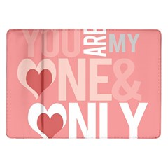 Valentines Day One Only Pink Heart Samsung Galaxy Tab 10 1  P7500 Flip Case