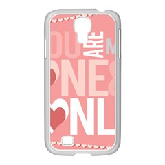 Valentines Day One Only Pink Heart Samsung Galaxy S4 I9500/ I9505 Case (white)
