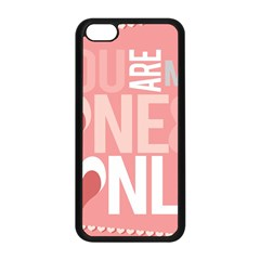 Valentines Day One Only Pink Heart Apple Iphone 5c Seamless Case (black)