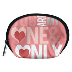 Valentines Day One Only Pink Heart Accessory Pouches (medium)