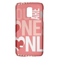 Valentines Day One Only Pink Heart Galaxy S5 Mini