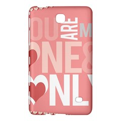 Valentines Day One Only Pink Heart Samsung Galaxy Tab 4 (8 ) Hardshell Case